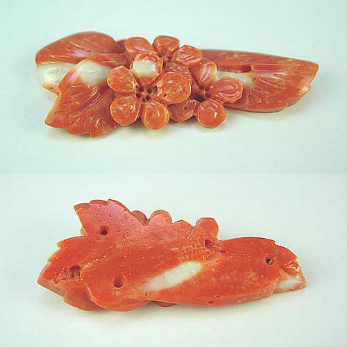 本珊瑚 桜 極上細工彫 3.7g ジュエリールース ad414 画像