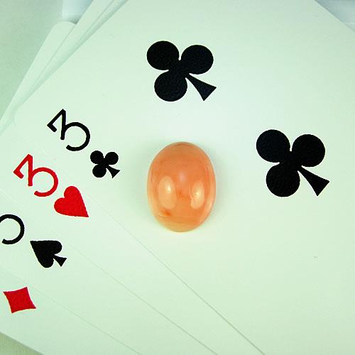 ピンク珊瑚 16×12mm 小判 ジュエリールース ad455 画像