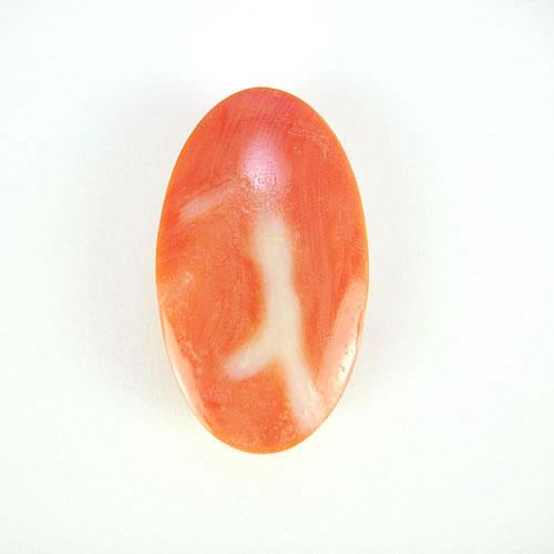 桃色珊瑚  24×14mm 小判  ジュエリールース ad788 画像