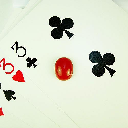 血赤珊瑚 11×9mm 小判  ジュエリールース ad873 画像