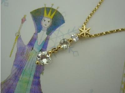 k18ygアンデルセンジュエリー 【雪の女王】ペンダント*シリーズ