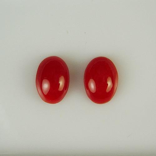 血赤珊瑚 1.21ct ペア ジュエリールース bd270