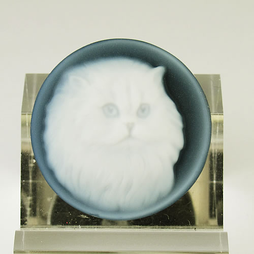 メノーカメオ 猫 22×22mm ジュエリールース bd522