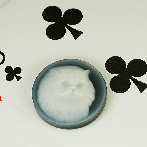 メノーカメオ 猫 22×22mm ジュエリールース bd522 画像