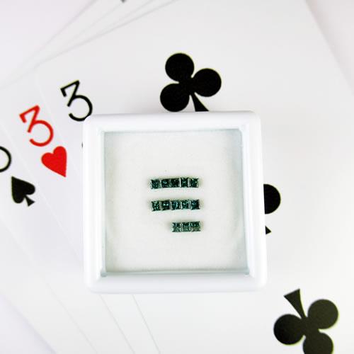 ダイヤ 0.41ct プリンセス 13ps ブルー ジュエリールース bd548 画像