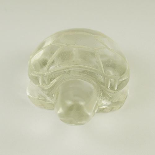 水晶 亀 手彫りカービング bd554 画像