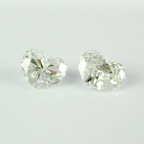 ダイヤモンド 0.171ctペア ハートカット  ジュエリールース db118