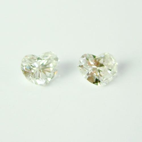 ダイヤモンド 0.171ctペア ハートカット  ジュエリールース db118 画像