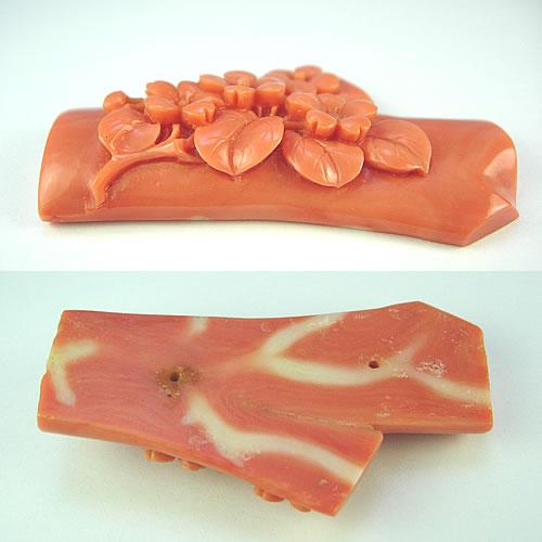 本珊瑚 桜 極上細工彫 20.4g ジュエリールース dc506 画像