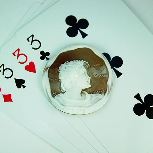 シェルカメオ 手彫り 35×35mm ジュエリールース df569 画像