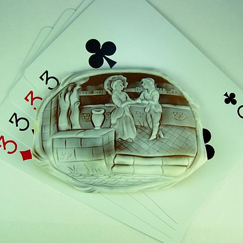 特大 シェルカメオ 手彫り 48×66mm ジュエリールース df574 画像