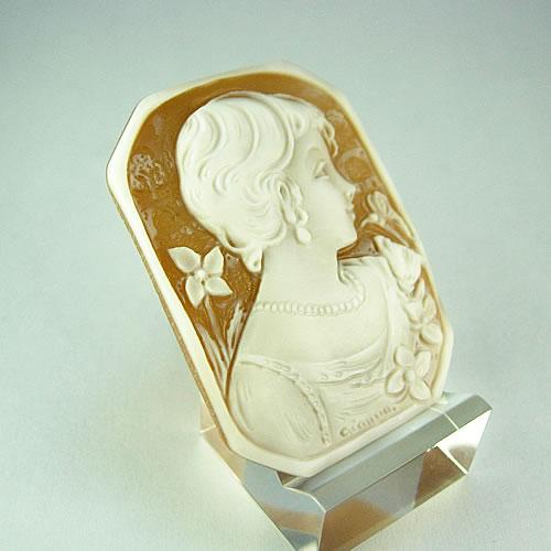 シェルカメオ 手彫り 45×33mm ジュエリールース df816 画像