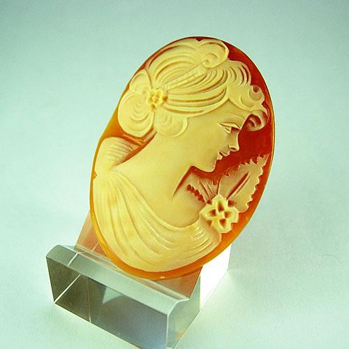 シェルカメオ 手彫り 45×33mm ジュエリールース df819 画像