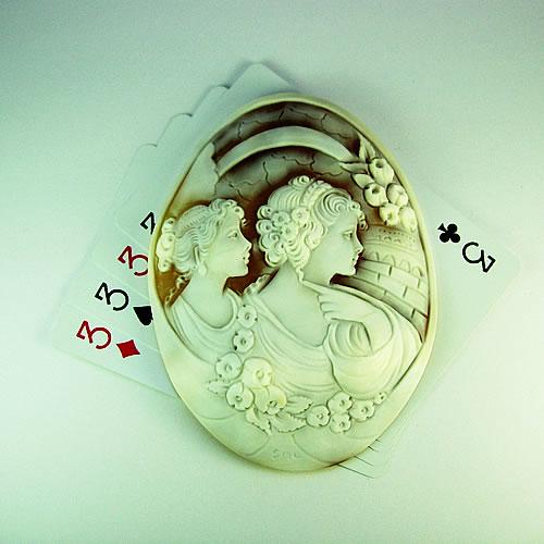 【特価】 特大シェルカメオ 手彫り 95×71mm ジュエリールース df823 画像