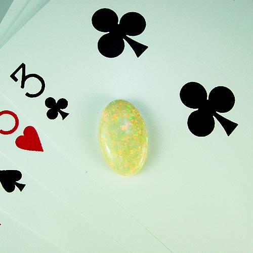 オパール 4.31ct 赤斑 ジュエリールース df885 画像