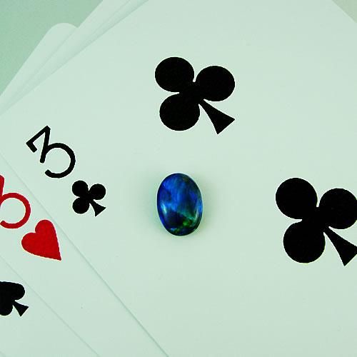 ブラックオパール 1.14ct 青斑 ジュエリールース dg109 画像