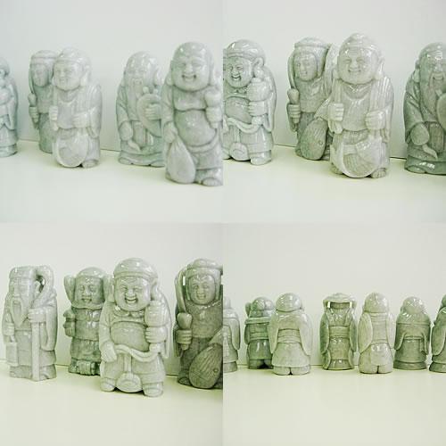 ヒスイ(ジェイダイト) 七福神 カービング dg204 画像
