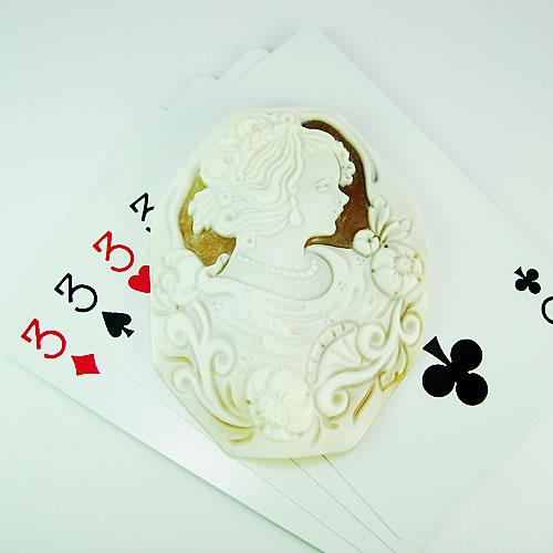 シェルカメオ 手彫り 65×51mm ジュエリールース dg206 画像