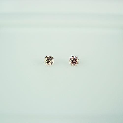 ナチュラルピンク ダイヤモンド 0.03ct ×2 ジュエリールース dg260