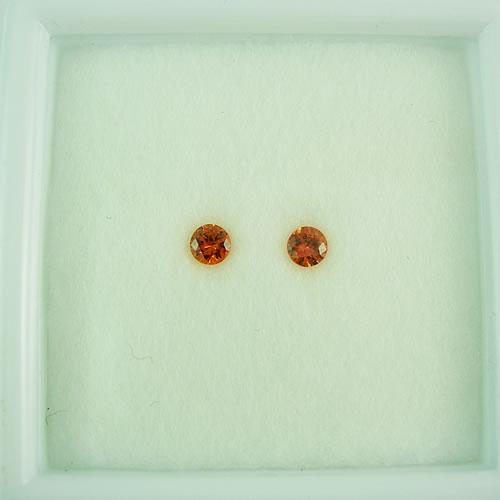オレンジサファイア 3mmペア 0.25ct ジュエリールース dg277