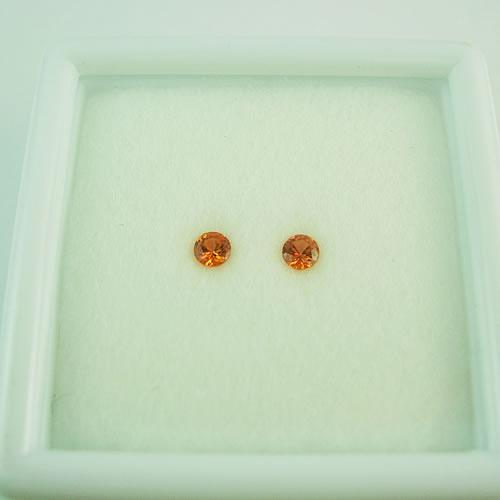 オレンジサファイア 3mmペア 0.25ct ジュエリールース dg277 画像