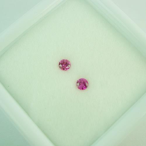 ピンクサファイア 3mmペア 0.25ct ジュエリールース dg278 画像
