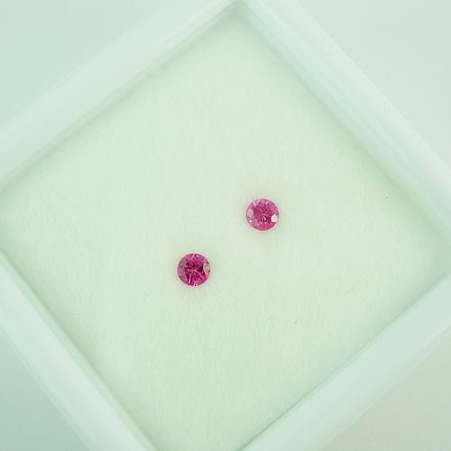 ピンクサファイア 3mmペア 0.25ct ジュエリールース dg280 画像
