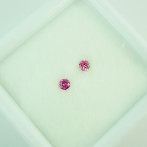 ピンクサファイア 3mmペア 0.25ct ジュエリールース dg281 画像