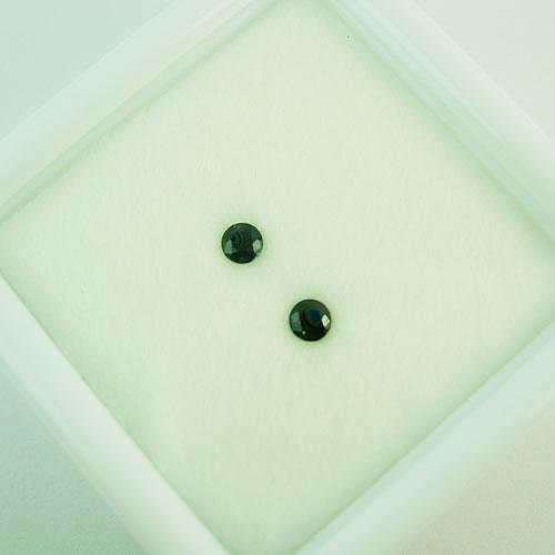 ブラックサファイア 3mmペア  0.25ct ジュエリールース dg289 画像