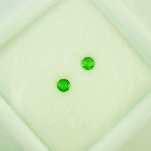 グリーンガーネット 3mmペア 0.22ct ジュエリールース dg295 画像
