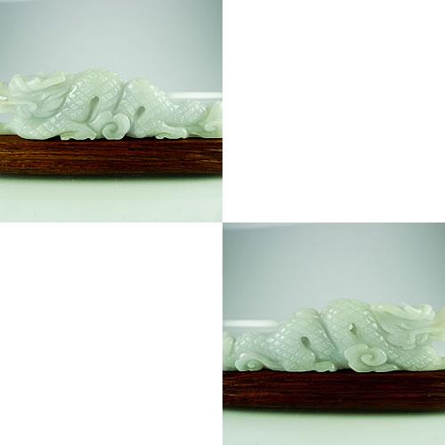 龍 ラベンダーヒスイ 手彫りカービング  dg296 画像