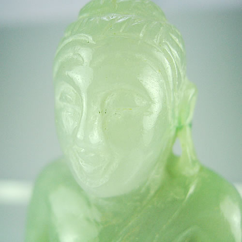仏像 ラベンダーヒスイ 手彫りカービング dg298