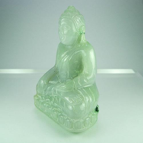 仏像 ラベンダーヒスイ 手彫りカービング dg298 画像