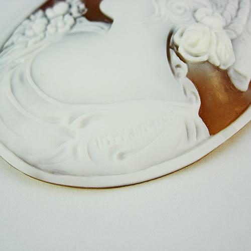 シェルカメオ 手彫り 55×42mm ジュエリールース dg348 画像