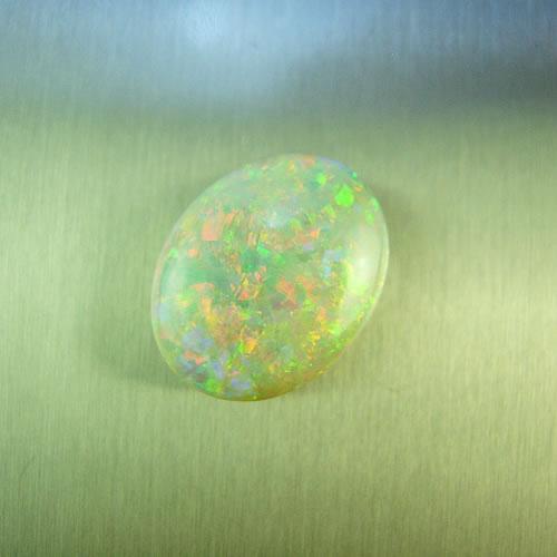 オパール 3.74ct 赤斑リバーシブル ジュエリールース dg541 画像