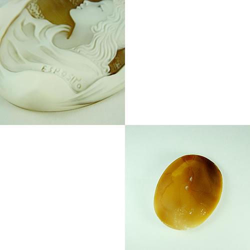 シェルカメオ 手彫り 55×40mm ジュエリールース dg633 画像