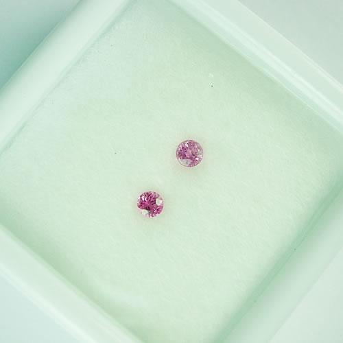 ピンクサファイア 3mmペア 0.31ct ジュエリールース dg781 画像