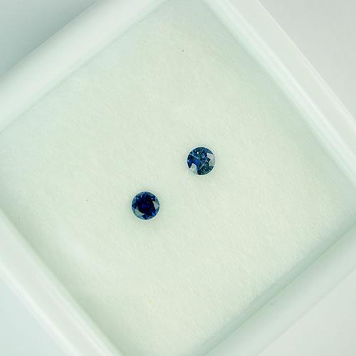 ブルーサファイア 3mmペア 0.26ct ジュエリールース dg784 画像