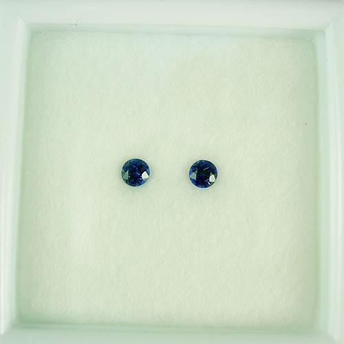 ブルーサファイア 3mmペア 0.27ct ジュエリールース dg788