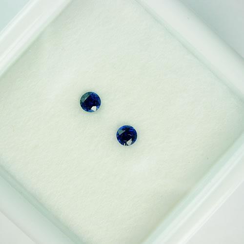 ブルーサファイア 3mmペア 0.27ct ジュエリールース dg788 画像
