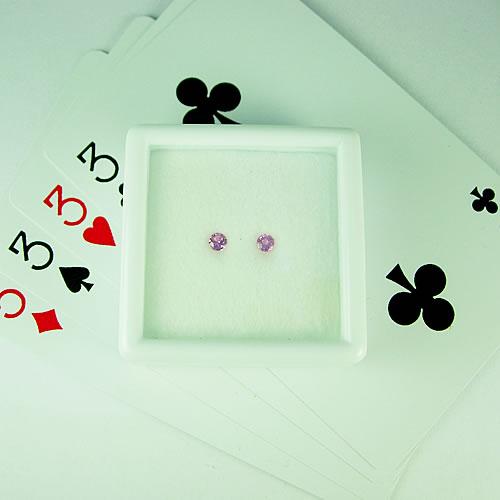 ピンクサファイア 3mmペア 0.28ct ジュエリールース dg793 画像