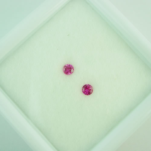 ピンクサファイア 2.8mm ペア 0.23ct ジュエリールース dg796 画像