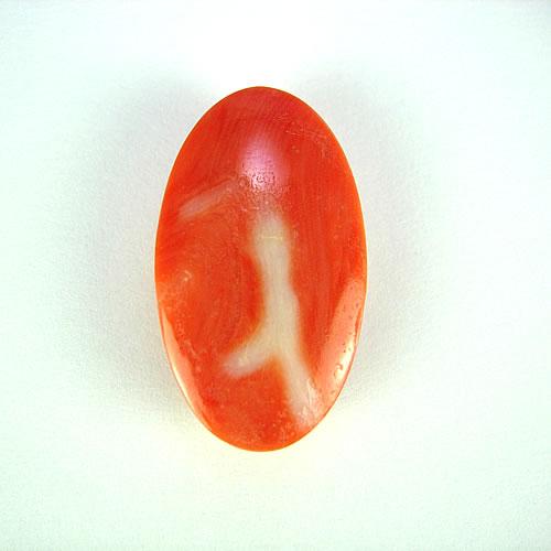 桃色珊瑚 24×14mm 小判 ジュエリールース dg841 画像