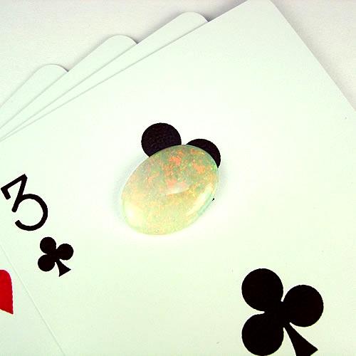 オパール 3.47ct 赤 オレンジ斑 ジュエリールース dg847 画像