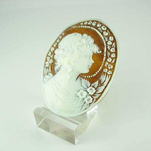 シェルカメオ 手彫り 55×41mm ジュエリールース dg896 画像
