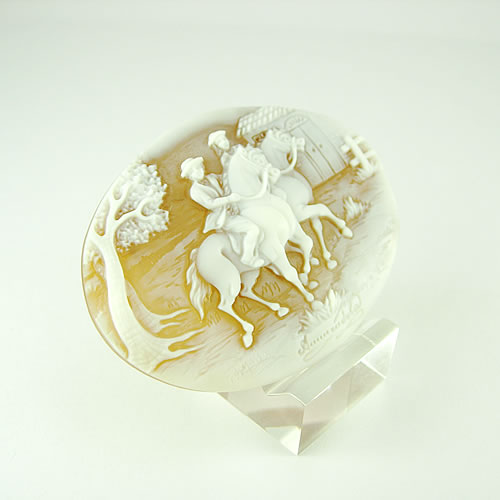 シェルカメオ 手彫り 46×60mm ジュエリールース dg897 画像