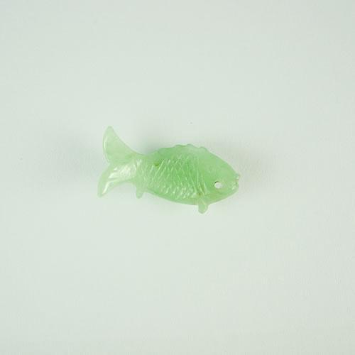 ヒスイ 魚カービング 3.40ct ジュエリールース dt474