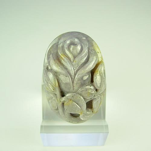 バラ サファイア89.71ct 手彫りカービング dt495