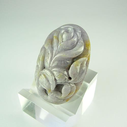 バラ サファイア89.71ct 手彫りカービング dt495 画像