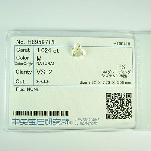 ダイヤ 1.024ct M.VS-2. ハートカット ジュエリールース dz134 画像